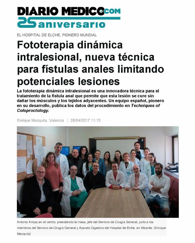 Diario Medico pdt fistulas